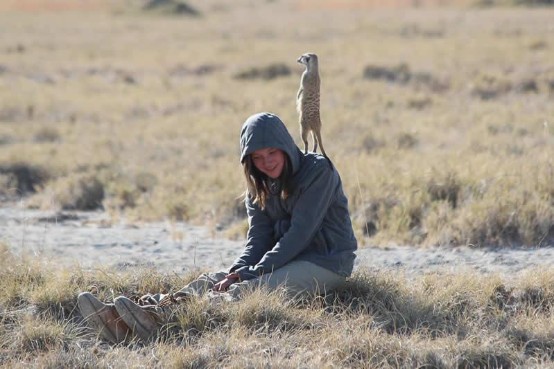 Ella and meerkat
